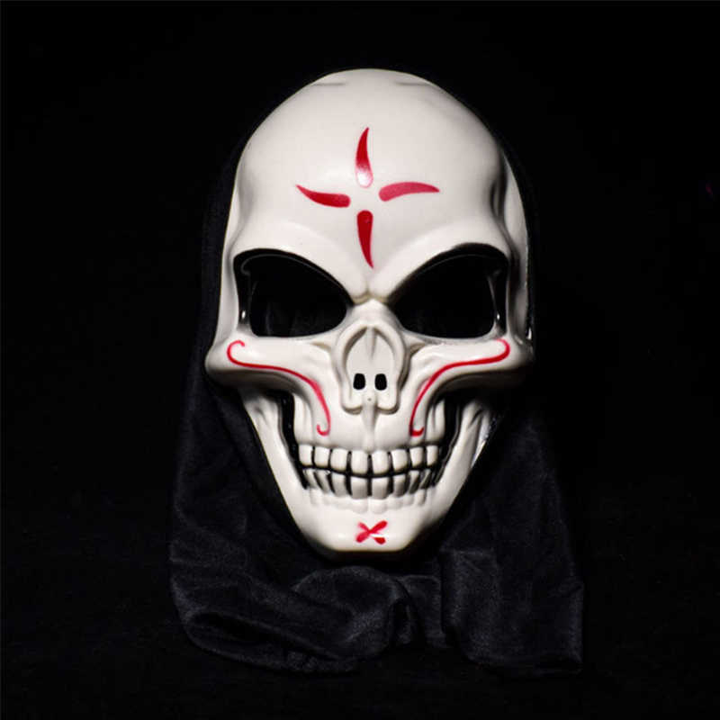 Halloween Bar Masquerade Dance Devil Man Bones White Skull Mask Anonymous Cos Party Supplies Home Bar Table Event Decoration