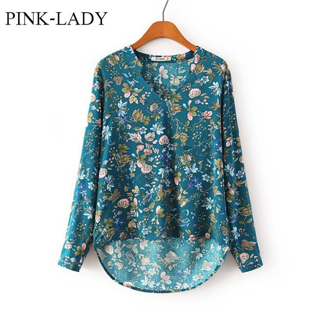 0d522126a4829 Womens Ladies Casual V-neck Flower Printed Long Sleeve Rayon Blouse Loose  Cotton Floral Shirts Vintage Tops Plus Size Maxi S-XL