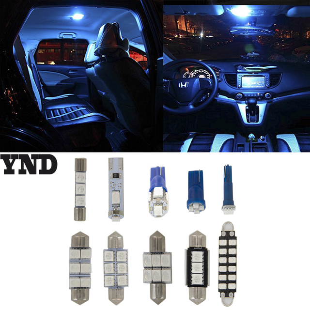 9pcs For Chevrolet Malibu 2008 09 10 11 2017 Bright Blue Led Dome Interior Light Kit