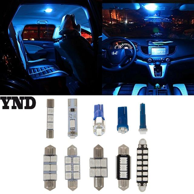 9pcs For Chevrolet Malibu 2008 09 10 11 2017 Bright Blue Led Dome Interior Light Kit
