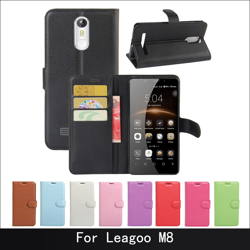 For Leagoo M8 Case Luxury Phone Protective Mobile Case For Leagoo M 8 Pro Book Flip Cover Wallet PU Leather Bags