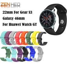 For Galaxy 46mm Wrist Strap for Huawei Watch GT Silicone Bands Honor watch Magic Bracelet Band Smart Accessory