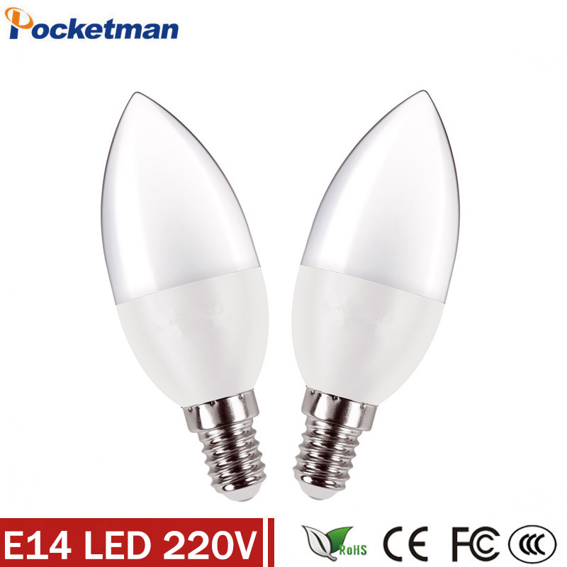 E14 LED Lamp 220V AC220V 230V Led Spotlight For Indoor Lighting With CE ROHS Bulb Candle Light SMD2835 Chandelier LED Light Bulb