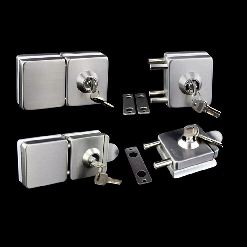 304 stainless steel Square Glass Door Lock with Keys Free Opening Sliding Door Latches For 10-12mm Thickness Furniture Hardware breathable bubble thick cartoon kids summer baby quilt blankets soft cotton cloud wings children room blanket bedding 90x130cm
