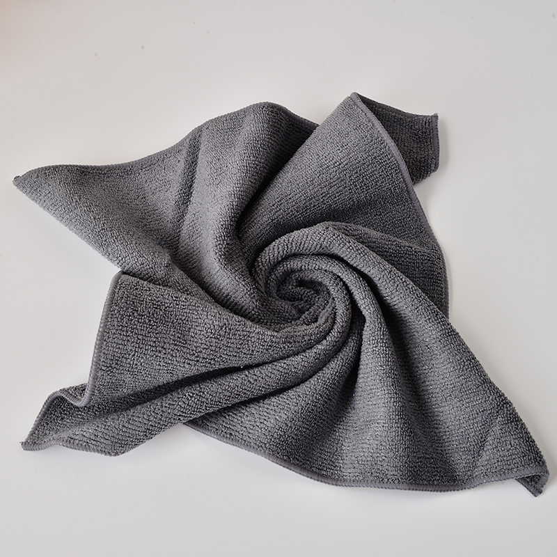 10 pcs/lot 13.7''x13.7''  All-purpose Microfiber Cleaning Cloths Wiping Dusting Rags Dark Grey