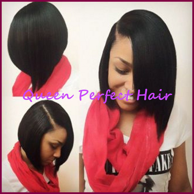 Instock Hot Selling African American Short Straight Synthetic Wig