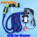 Arma de espuma de lavagem de carro bomba de água bomba de limpeza de alta pressão máquina de lavar + 7.5 m mangueira expansível