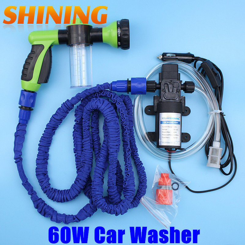 High Pressure Water : Dc v foam gun car washing machine cleaning pump high