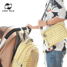 цена на 2pcs/set Nappy Backpack Bag Mummy Large Capacity Bag Mom Baby Multi-function Waterproof Outdoor Travel Diaper Bags For Baby Care