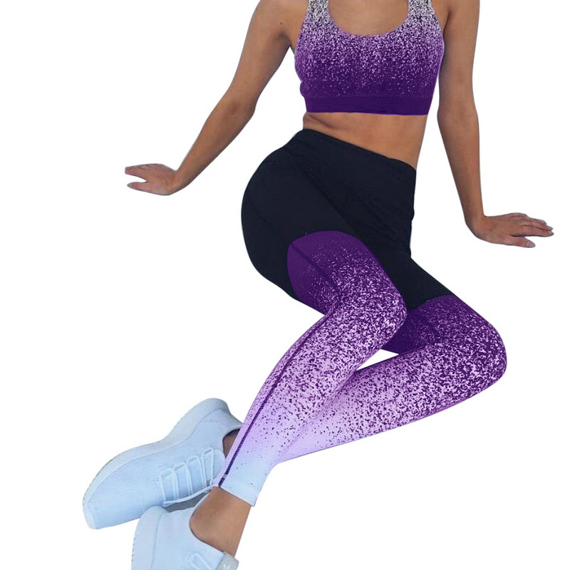Vertvie Fitness Pants Womens  Waist Leggings Running Gym Sports Pants Trousers Gradient And  Crop Top Fitness Sets 2019 leggings