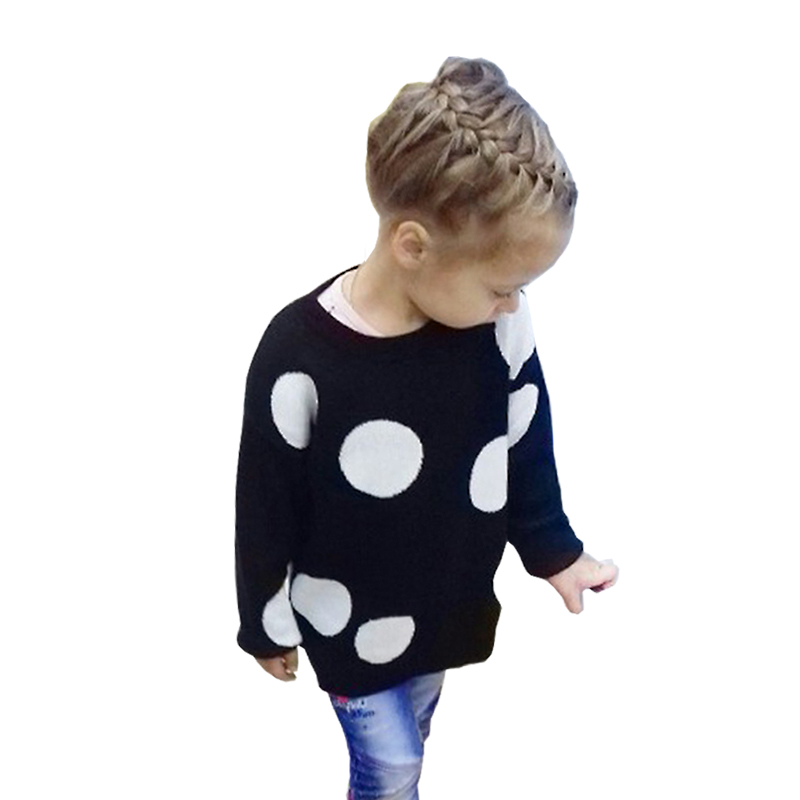 MILANCEl 2018 Children Baby Sweaters Dot Boys Sweaters Winter Girls Sweaters Knit Kids Pullover Casual Boys Clothing 1-6 Years boys and girls cartoon sweaters 2017 autumn winter new children knitting clothes baby casual cotton knit wear pullover tops 3 8y