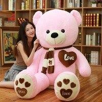 80 100cm 1m Giant filled Big teddy bears Stuffed Animals toys pink party children birthday gift xmas Pillow Doll plush teddies