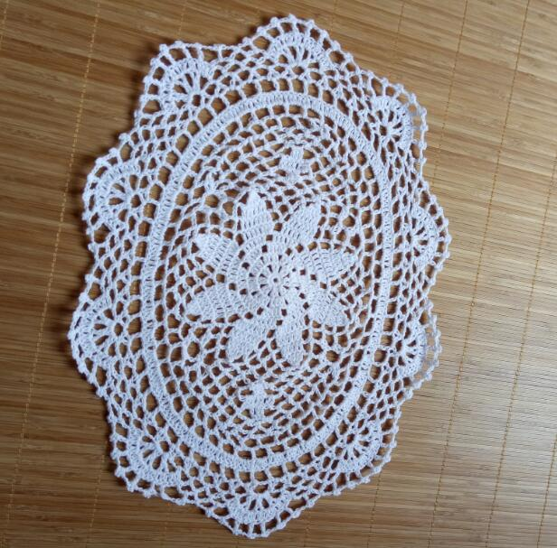 Vintage Oval lace cotton table place mat crochet coffee placemat pad Christmas drink coaster cup mug tea dining doily kitchen in Mats Pads from Home Garden