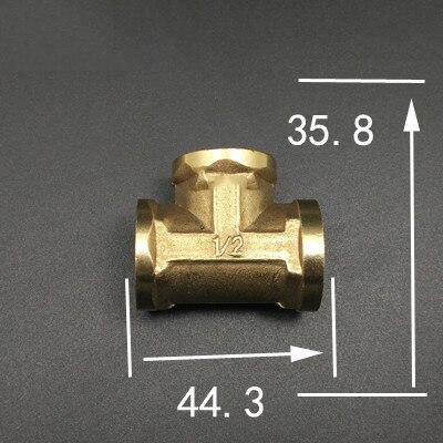 1/2 bsp Innengewinde Länge 44,3mm T Typ 3 Messing Pipe Fitting Adapter Koppler-verbindungs Für Wasser Kraftstoff Gas Attraktive Designs; Rohre & Armaturen Heimwerker