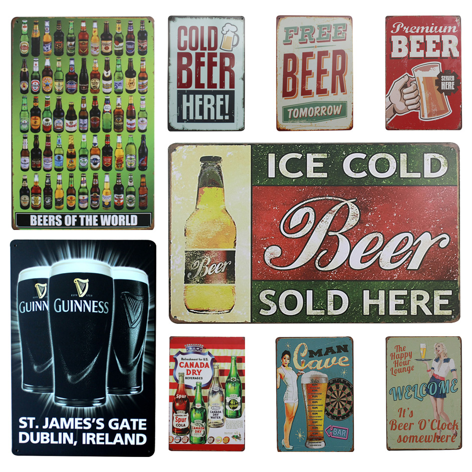 Online Buy Wholesale Vintage Tin Signs From China Vintage Tin Signs Wholesalers Aliexpress Com