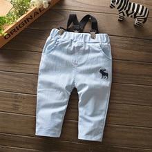 Новинка года, модные весенние штаны для малышей Хлопковые Штаны со съемным комбинезоном для мальчиков и девочек осенние повседневные штаны с эластичной резинкой на талии одежда для детей возрастом от 6 до 24 месяцев