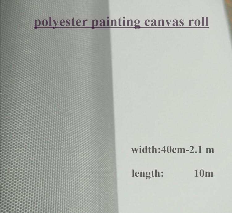 US $56 9 |100% polyester painting canvas roll for hand painted practice  with grey back 10m one roll-in Painting Canvas from Office & School  Supplies