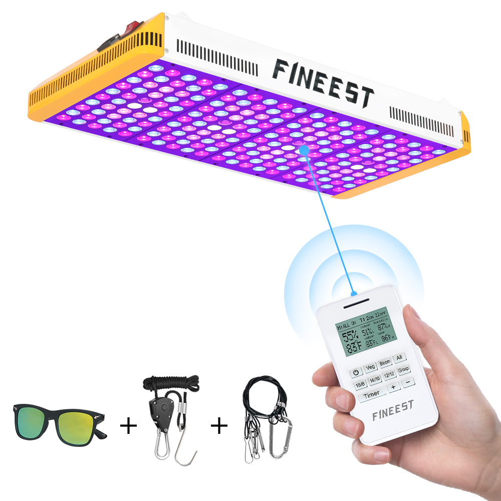 FINEEST Led Grow Light Full Spectrum 2000W Remote Control reflector led chip for indoor plants VEG