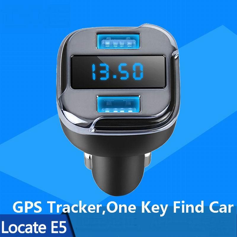Новый 2 в 1 автомобилей Зарядное устройство найдите E5 GPS трекер быстро найти автомобиль Dual USB адаптер с цифровой светодиодный Дисплей для iphone …