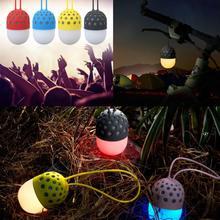Firefly Waterproof Wireless Bluetooth Speakers Colorful LED lights Mini Speaker Subwoofer Loudspeakers