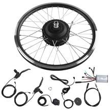 E-Bike Conversion Kit 36V/48V 350W Front/Rear Drive 20inch Motor Wheel Controller Throttle LED Display Electric Bicycle Parts(China)