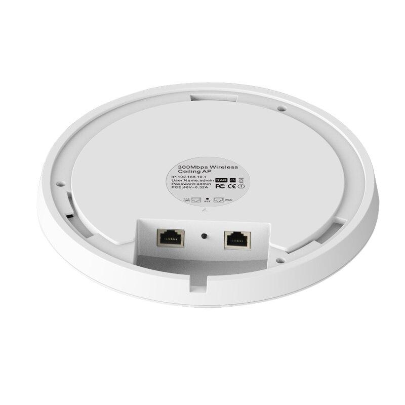 300 Mbps Intérieur Plafond Sans Fil Point D'accès WiFi AP Routeur Ouvert dd wrt Wi-Fi Répéteur Extender Routeur 48 V POE puissance Adaptateur - 3