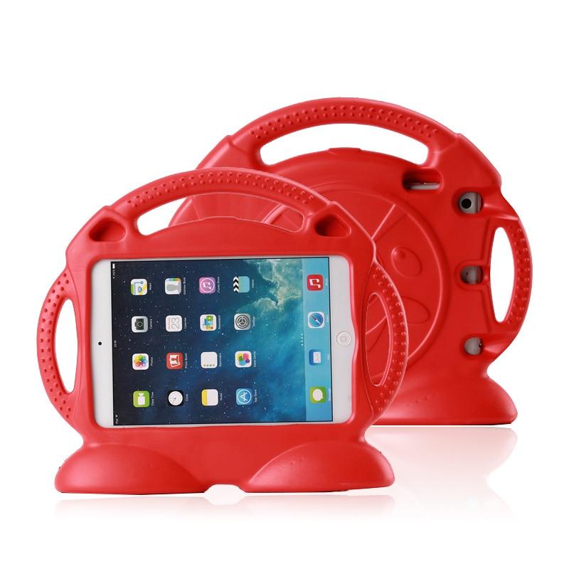 все цены на Case for Apple ipad Air /Air 2 / 5 / 6 Thomas handgrip stand Shock Proof EVA full body cover Kids Safe Silicone para shell coque онлайн