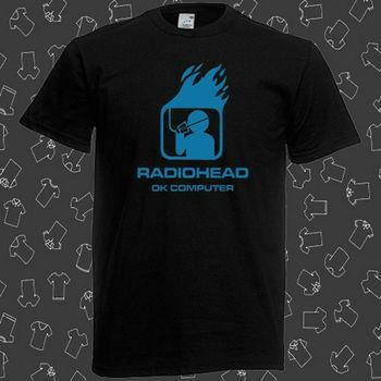 Radiohead Ok Computer Rock Band Legend Men's Black T-Shirt