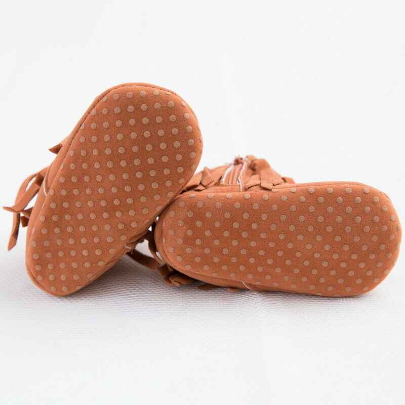 الأزياء الطفل الرضع أحذية سرير الصبي فتاة شرابة فاتنة الأخفاف Moccs الأولى مشوا الوليد