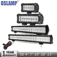 CREE 210W 20 LED Light Bar 5D Offroad Led Work Lights Combo Beam Driving Lamp DC12v