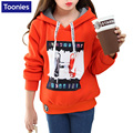 Children Hoodie Winter Autumn Girls Sweatshirts Long Sleeves Thick Winter Warm Thickness Hoodies for Teens 5-14T Girls Cloth