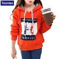 Crianças Moletom Com Capuz Outono Inverno Meninas Hoodies Camisolas de Mangas Compridas Grosso Inverno Quente Espessura para Adolescentes 5-14 T Meninas pano