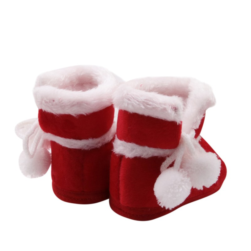 1a9a5af6fb547 Baby Girl Boy Cute Warm Shoes Christmas Santa Claus Red Shoes Infant  Prewalker Casual Newborn Baby Shoes 2017 Tags: