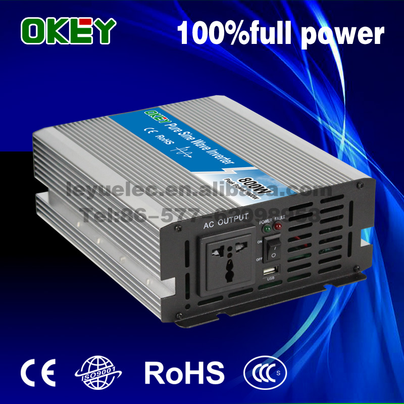 Solar systems DC AC 12V to 110v/220v Pure sine wave 800w single output mini power inverter from Chinese supplier