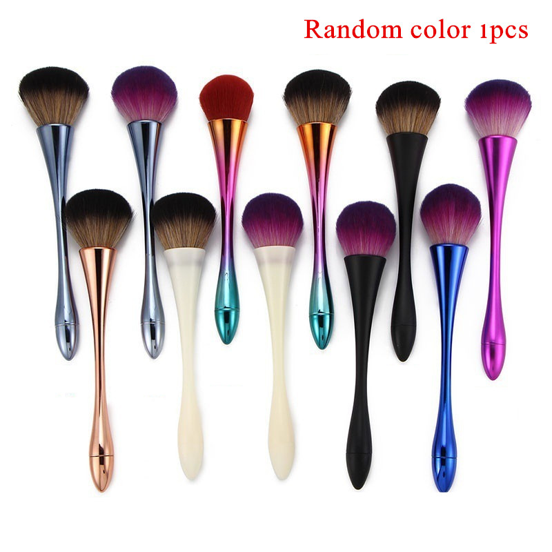 New 12 colour big powder brush high quality makeup brushes Face Foundation Powder Contour Blending Cosmetic Beauty Tools