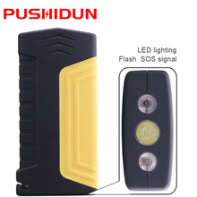 PUSHIDUN K16 Multi function Jump Starter Emergency Booster Safety Hammer Car JumpStarter Power Bank Waring light