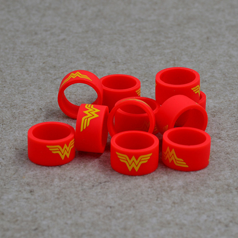 Superman rubber band&flash Silicone vape ring band for mechanical box mod vape rubber smok&kanger tech box mod