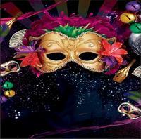 Mardi Gras Gold Mask Masquerade Carnival Champagne Sparkles black backdrops Vinyl cloth Computer printed wall Backgrounds MARD18