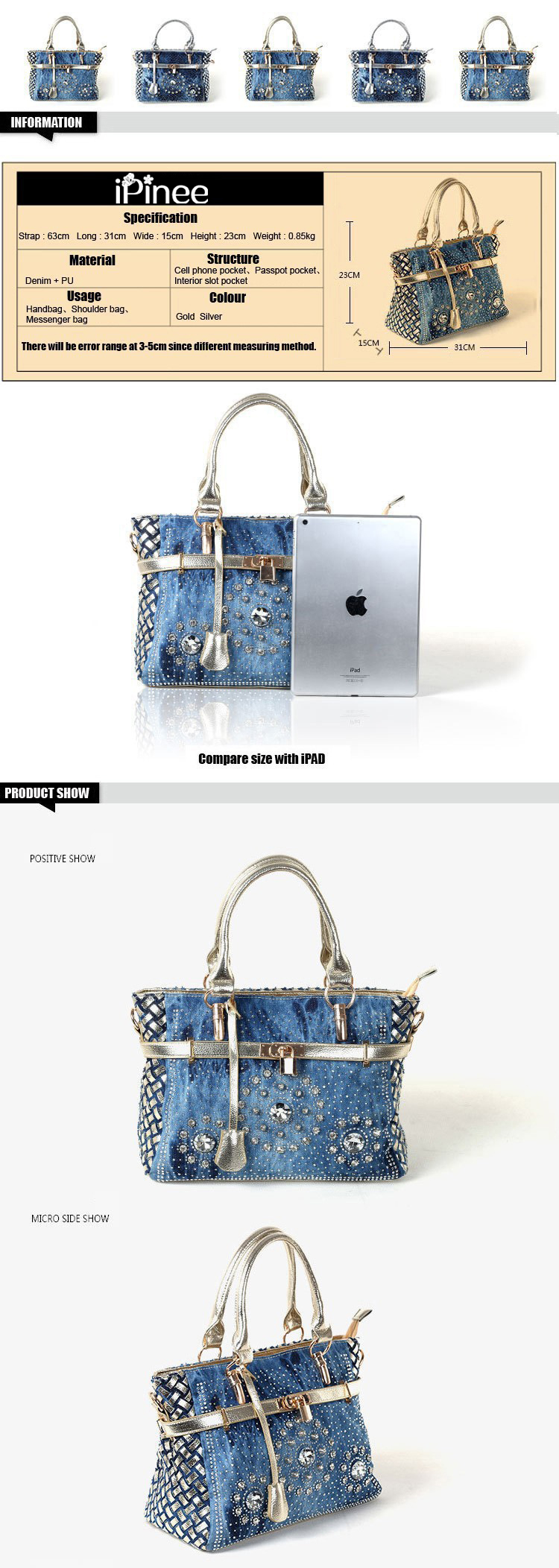 Cheap blue bag