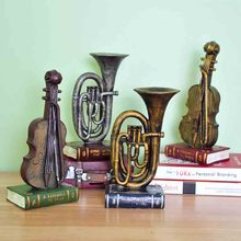 European-style retro musical instruments ornaments old cafe bar home accessories living room bedroom TV cabinet decoration
