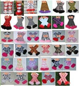 Image 5 - 200 estilos bebê babados aquecedores de perna infantil natal feriado do dia das bruxas chiffon plissado leggings quentes joelheiras