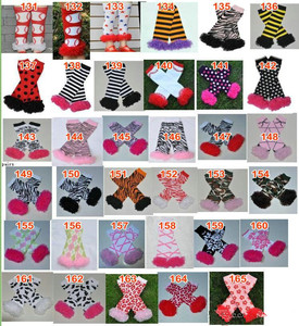 Image 5 - 200styles Baby Ruffled Leg Warmers Infant Xmas Halloween Holiday chiffon ruffle Leggings warm knee pads