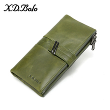 X.D.BOLO Purse Women Long Clutch Wallet Large Capacity Wallets Genuine Leather Female Purse Lady Purses Card Holder Phone Bag