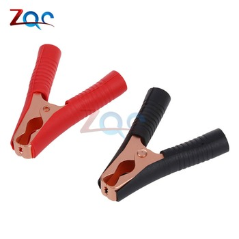 2pcs Car Alligator Clips Battery Clamps Crocodile Clip 100A Red+Black 90mm image