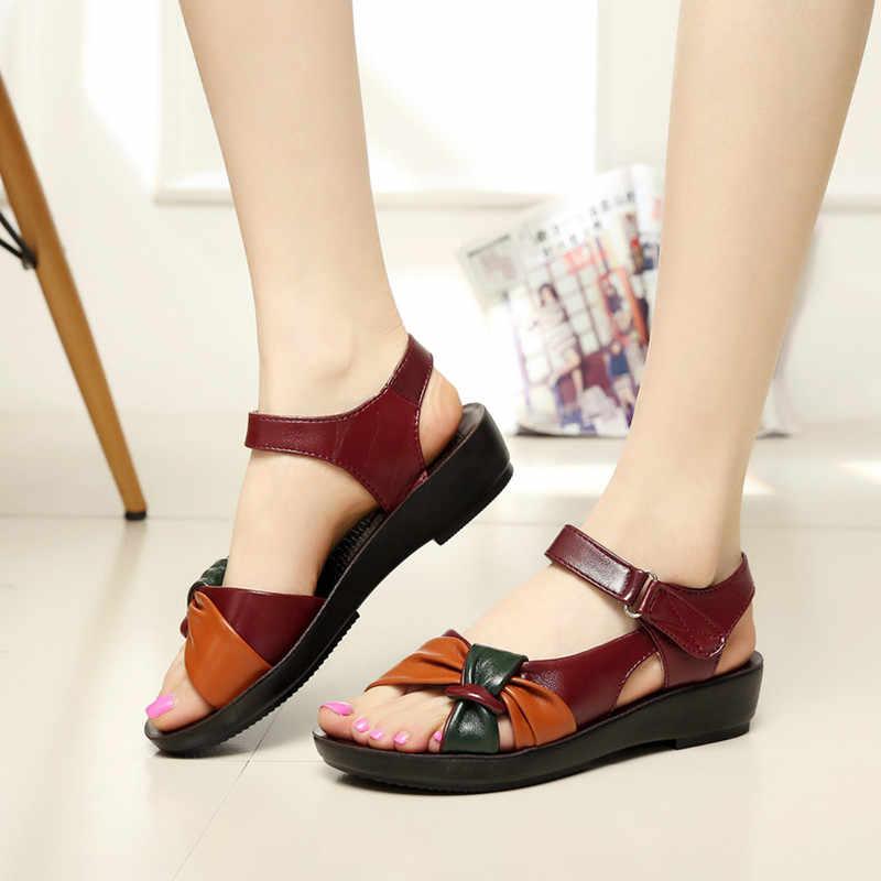 2020 NEUE Frauen Sandalen Sommer Schuhe Frau Flachen Sandalen Weiblichen Plattform Sandalen Frauen Schuhe Leder Schuhe Damen Alias