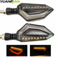 Motorcycle Modified Turn Signals Waterproof Turn Lights LED Direction Lamp Decorative Signal Lights Daytime Lamp Free
