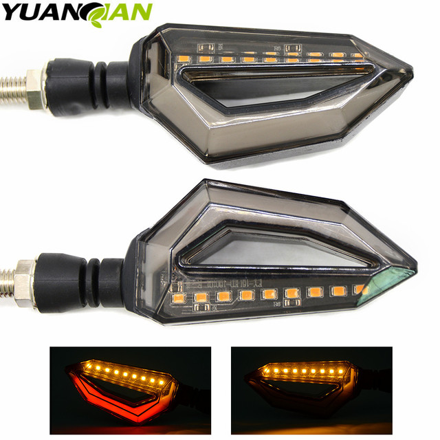 Motorcycle modified Turn signals waterproof turn lights LED direction lamp decorative Signal lights Daytime lamp free shipping