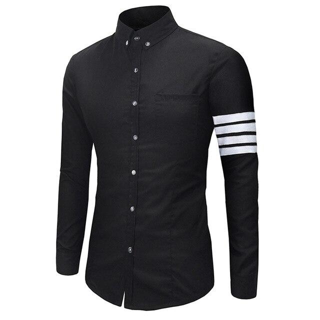 Men Shirt 2017 Fashion Brand Men'S Striped Shirt Male Long-Sleeved Shirt Camisa Masculina Casual Slim Chemise Homme
