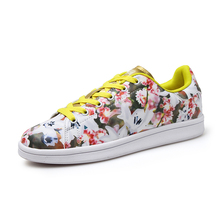 New Arrival Superstar Breathable font b Women b font Casual Shoes Outdoor Walking Lace Up Floral