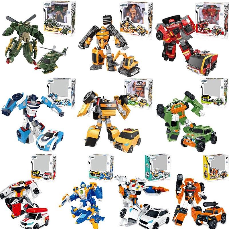 10 Style Tobot 2 Generation MINI Deformation Mobilization Toys Deformations Car Tobot robotToys Model For Kid Best Gift